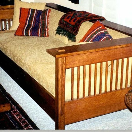 View a Larger Image of Woodworking Project Paper Plan to Build Mission Style Couch, AFD240