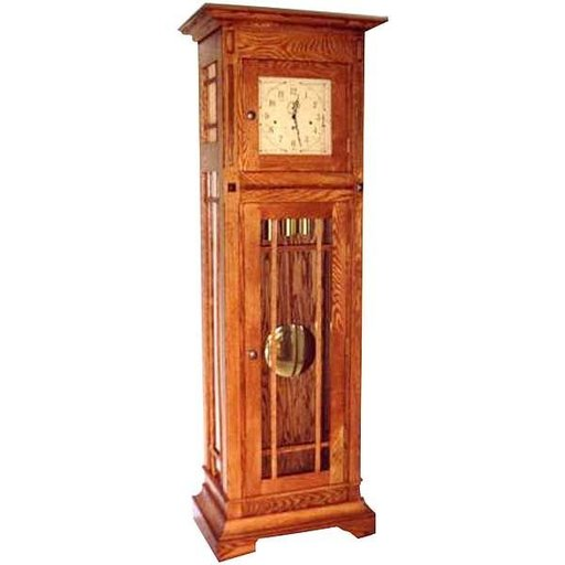 View a Larger Image of Woodworking Project Paper Plan to Build Mission Style Grandfather Clock, AFD295