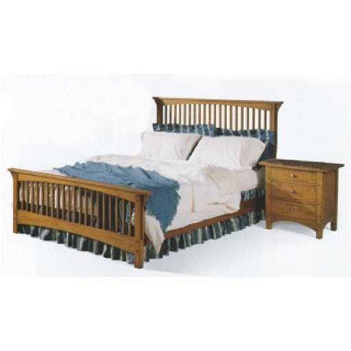 View a Larger Image of Woodworking Project Paper Plan to Build Mission Style Queen-sized Bed and Night Stand, AFD236