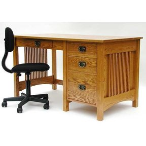 Woodworking Project Paper Plan to Build Mission Style Student's Desk, AFD340