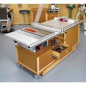 Woodworking Project Paper Plan to Build Mobile Sawing & Routing Center