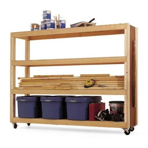 View a Larger Image of Woodworking Project Paper Plan to Build Mobile Storage