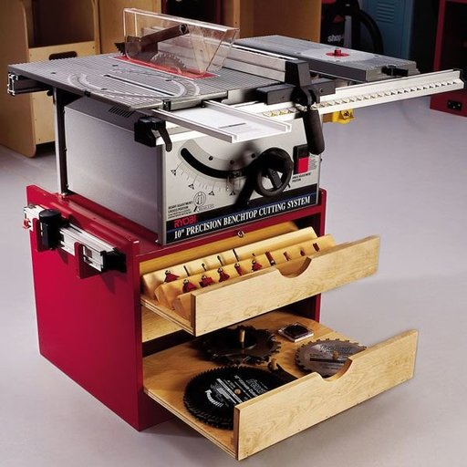 View a Larger Image of Woodworking Project Paper Plan to Build Mobile Tablesaw