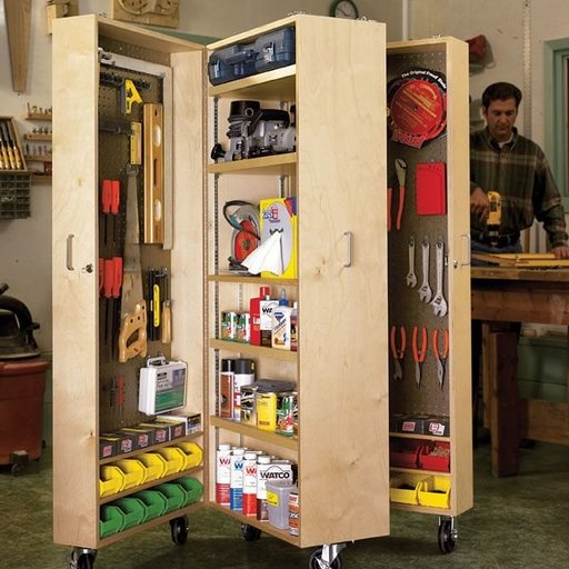 View a Larger Image of Woodworking Project Paper Plan to Build Mobile Tool Cabinet