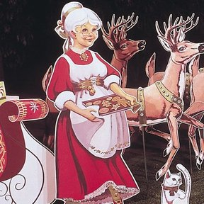 Woodworking Project Paper Plan to Build Mrs. Claus, Plan No. 335
