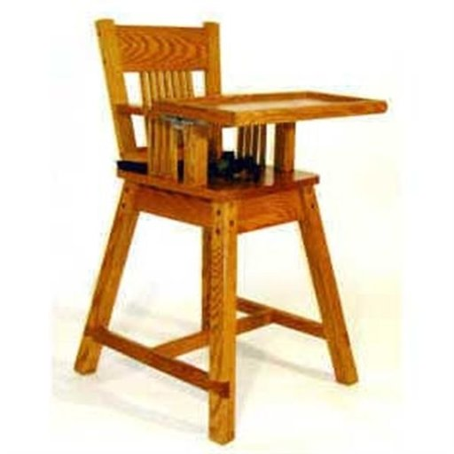 View a Larger Image of Woodworking Project Paper Plan to Build Noah's Highchair, AFD228