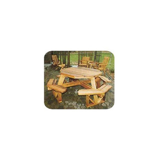 View a Larger Image of Woodworking Project Paper Plan to Build Octagon Picnic Table