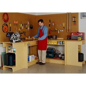 Woodworking Project Paper Plan to Build One-Day Workbench