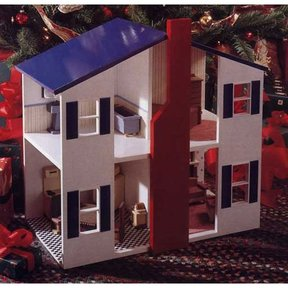 Woodworking Project Paper Plan to Build Open House Doll House