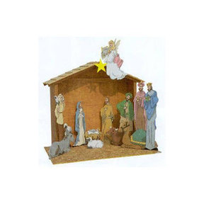 Woodworking Project Paper Plan to Build Paintable Nativity Scene