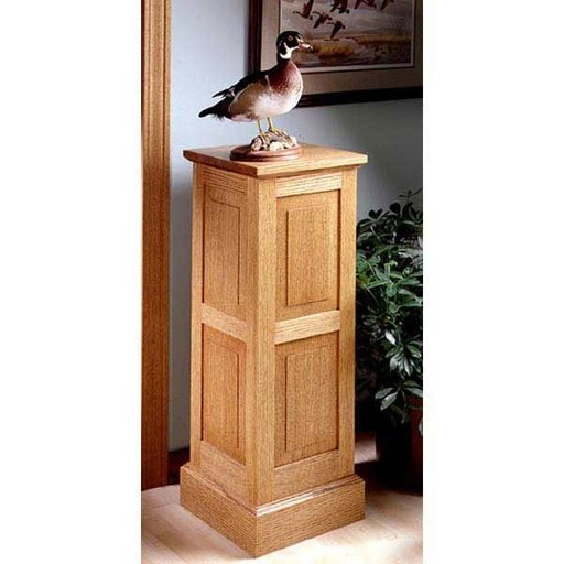 View a Larger Image of Woodworking Project Paper Plan to Build Panel-and-Frame Pedestal