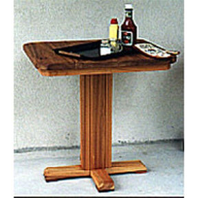 Woodworking Project Paper Plan to Build Patio Barbeque Table