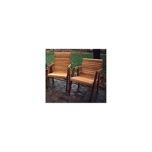 View a Larger Image of Woodworking Project Paper Plan to Build Patio Chairs