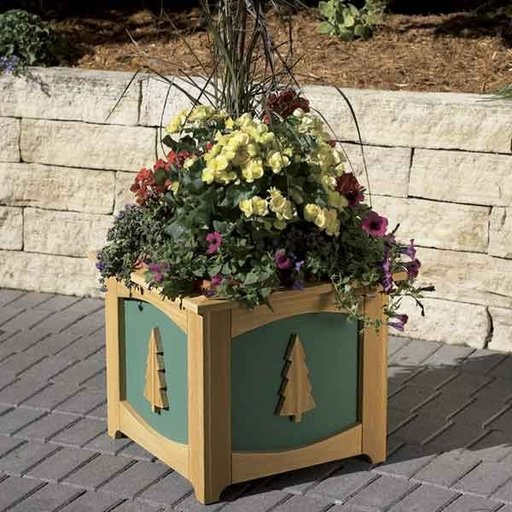 View a Larger Image of Woodworking Project Paper Plan to Build Patio-Perfect Planter Box