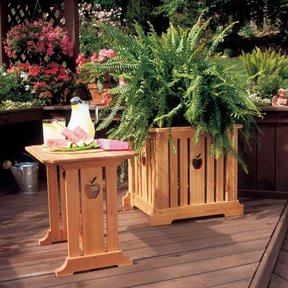 Woodworking Project Paper Plan to Build Patio Table & Planter