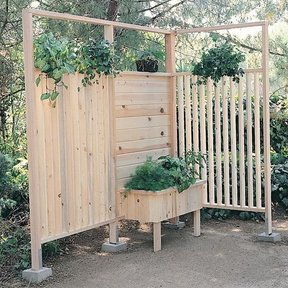 Woodworking Project Paper Plan to Build Patio Wall And Planter, Plan No. 779