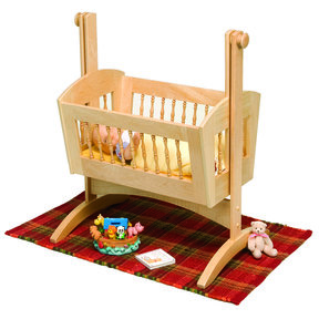 Woodworking Project Paper Plan to Build Pendulum Doll Cradle