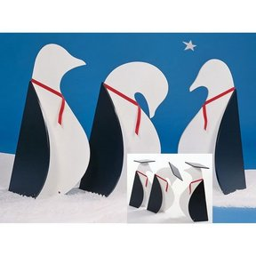 Woodworking Project Paper Plan to Build Penguins on Parade