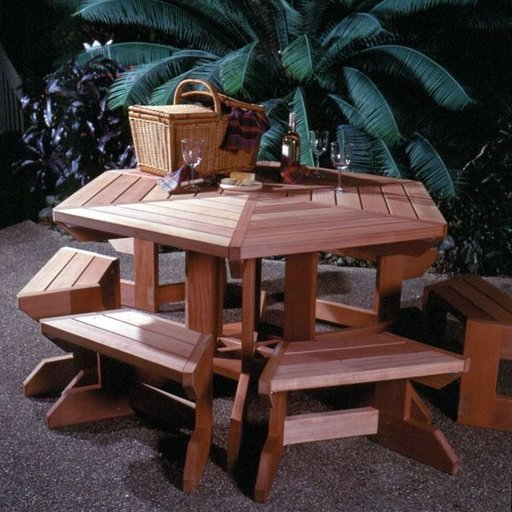 View a Larger Image of Woodworking Project Paper Plan to Build Picnic Table & Benches