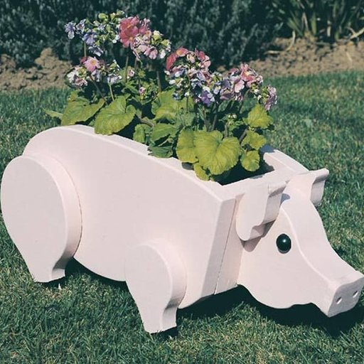 View a Larger Image of Woodworking Project Paper Plan to Build Pig Planter, Plan No. 890