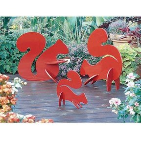 Woodworking Project Paper Plan to Build Playful Lawn Squirrels