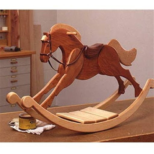 View a Larger Image of Woodworking Project Paper Plan to Build Playroom Palomino Rocking Horse