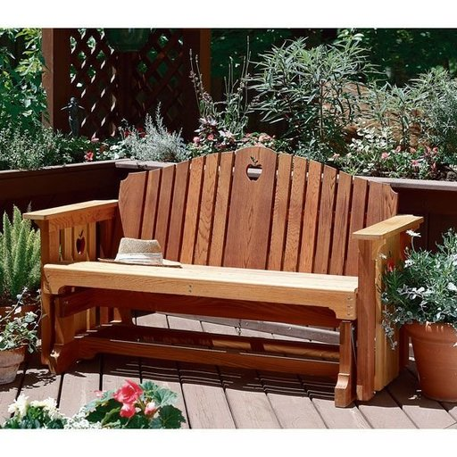 View a Larger Image of Woodworking Project Paper Plan to Build Porch Glider