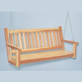 Woodworking Project Paper Plan to Build Porch Swing, Plan No. 897