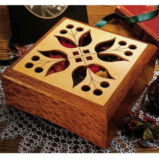 View a Larger Image of Woodworking Project Paper Plan to Build Potpourri Box