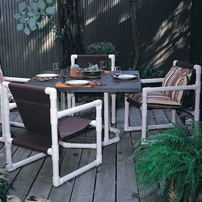 Woodworking Project Paper Plan to Build PVC Dining Set, Plan No. 665