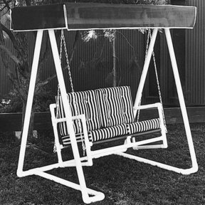 Woodworking Project Paper Plan to Build PVC Lawn Swing, Plan No. 678