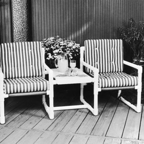 Woodworking Project Paper Plan to Build PVC Twin Seater, Plan No. 726