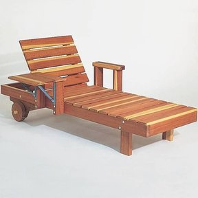Woodworking Project Paper Plan to Build Redwood Chaise, Plan No. 639