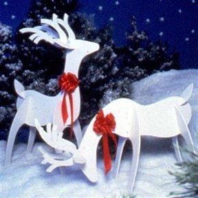 Woodworking Project Paper Plan to Build Reindeer
