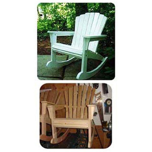 View a Larger Image of Woodworking Project Paper Plan to Build Rocking Adirondack Chair
