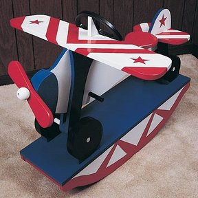 Woodworking Project Paper Plan to Build Rocking Airplane, No. 783
