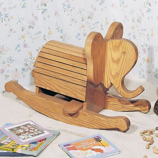 View a Larger Image of Woodworking Project Paper Plan to Build Rocking Elephant, Plan No. 750
