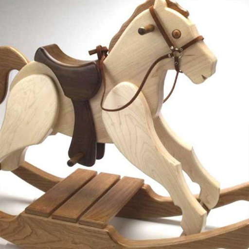View a Larger Image of Woodworking Project Paper Plan to Build Rocking Pony