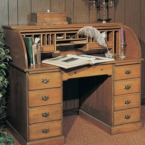 Woodworking Project Paper Plan to Build Roll-Top Desk, Plan No. 571