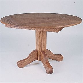 Woodworking Project Paper Plan to Build Round Oak Table, Plan No. 722
