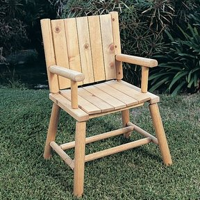 Woodworking Project Paper Plan to Build Rustic Chair, Plan No. 772