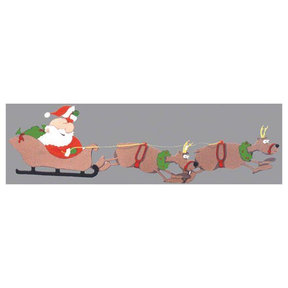 Woodworking Project Paper Plan to Build Santa and Reindeer