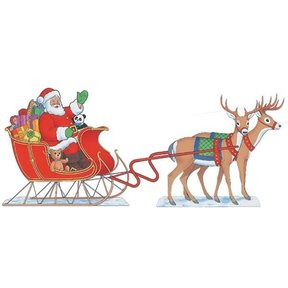 Woodworking Project Paper Plan to Build Santa & Sleigh (Reindeer not included), Plan No. 919