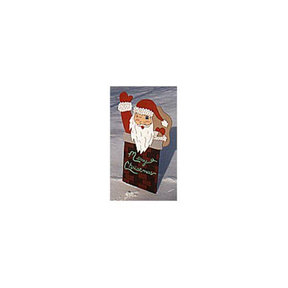 Woodworking Project Paper Plan to Build Santa in Chimney