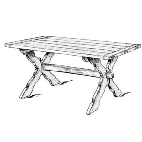 Woodworking Project Paper Plan to Build Sawbuck Dining Table