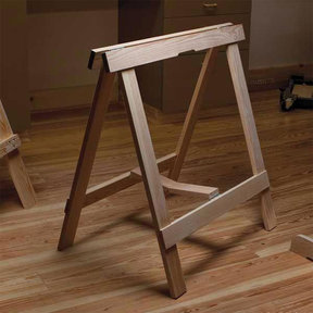Woodworking Project Paper Plan to Build Sawhorse Roundup