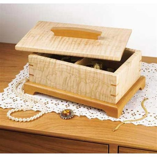 View a Larger Image of Woodworking Project Paper Plan to Build Secret-Compartment Jewelry Box