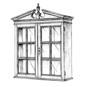 Woodworking Project Paper Plan to Build Secretary Bookcase Top
