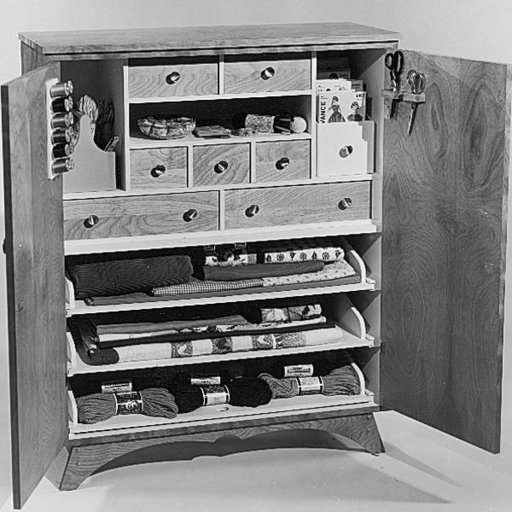 View a Larger Image of Woodworking Project Paper Plan to Build Sewing Cabinet, Plan No. 368