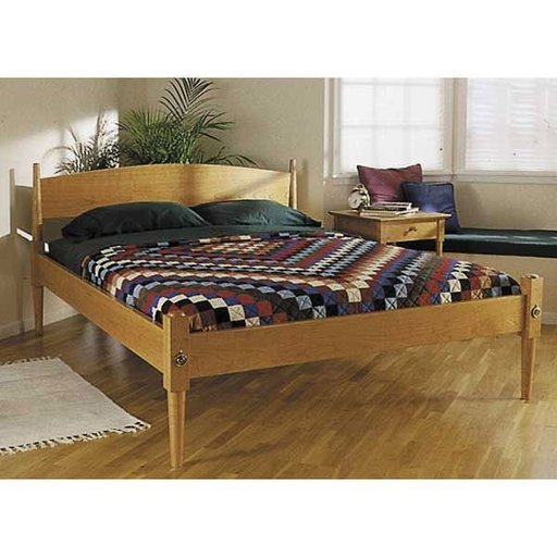 View a Larger Image of Woodworking Project Paper Plan to Build Shaker Bed